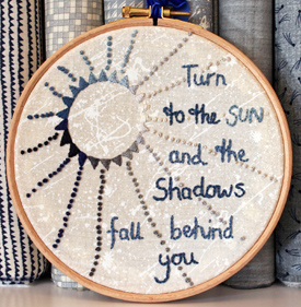 Turn to the Sun - Sky Embroidery